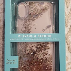 Kate Spade Floating Champagne iPhone X Case - New!